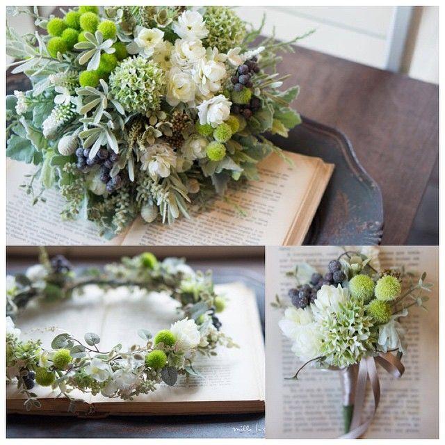 ... オンラインストアで販売中の人気のクラッチブーケに合わせて花冠、ブートニアをオーダーメイドでおつくりしました とってもナチュラルでロケーションフォトなどにぴったりです♡ blogで詳細をご覧頂けます http://mille-la-chouette.jp/order-diary/9318/ #ウェディング#wedding#ブーケ#クラッチブーケ#花冠#花飾り#ナチュラル#花嫁#結婚式#ブライダル#ロケーションフォト