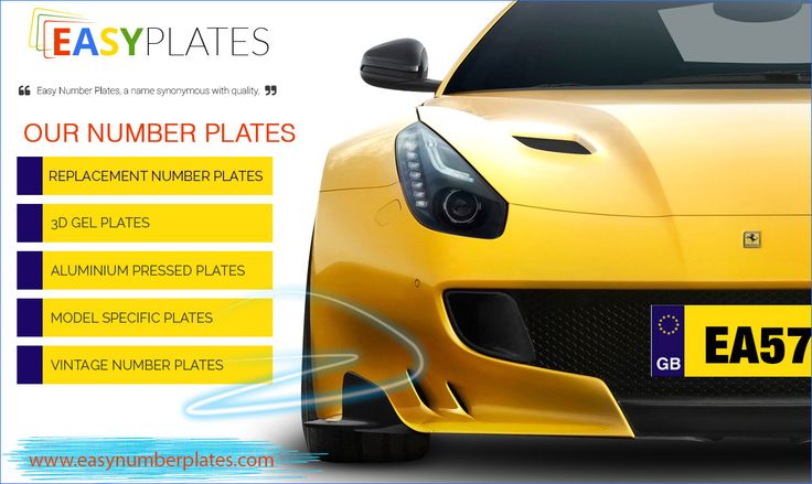 Order the car number plates! We love designing number plates that match your car.