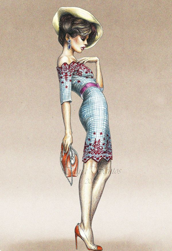 Fashion ILLUSTRATION _____________________________ Reposted by Dr. Veronica Lee, DNP (Depew/Buffalo, NY, US)