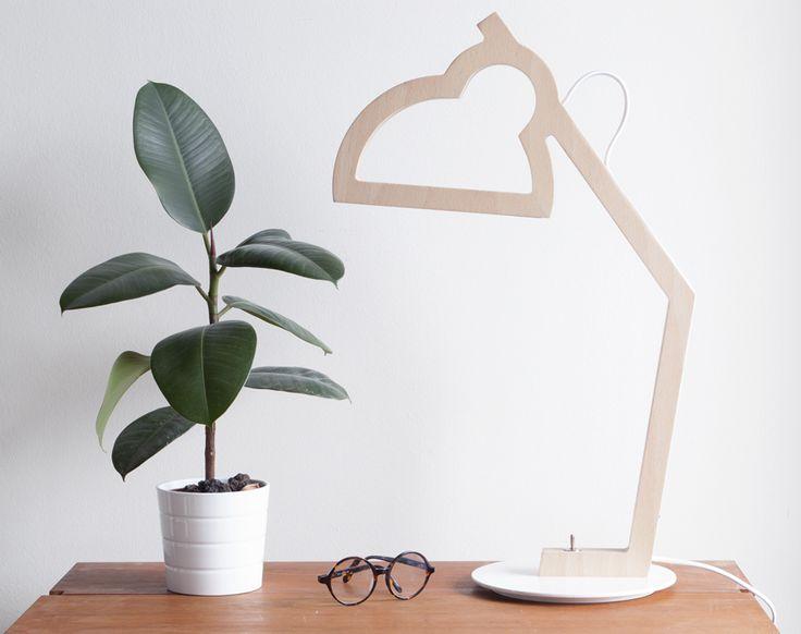 Lysa wood lamp led - design julie gasiglia