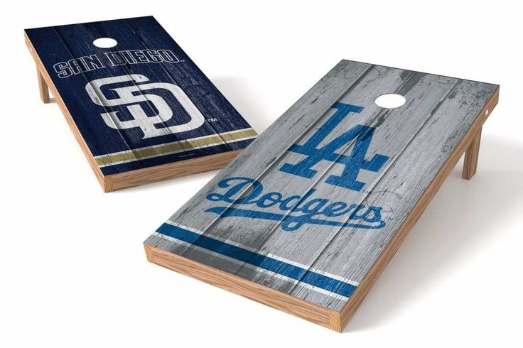 Los Angeles Dodgers/ San Diego Padres Rivals Cornhole Board Set