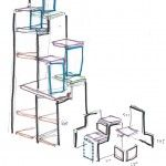 Conception & réalisation d'un escalier sur-mesure intégrant la fonction de rangement et dressing. Pour faciliter l'accès à la mezzanine et éviter d'encombrer l'espace, l'escaliera été conçu sur le principe de marche double. Ainsi on conserve la fonction escalier et on oublie l'échelle de meunier... Ensuite un travail sur la fonction rangementa été réalisé afin d'organiser…