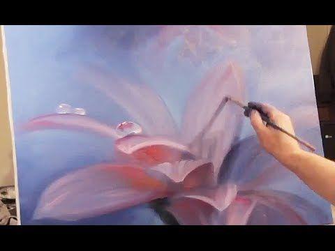Фиолетовый Цветок ПОЛНЫЕ ВИДЕО ИГОРЯ САХАРОВА Уроки живописи маслом Мастер-класс мастихином - YouTube