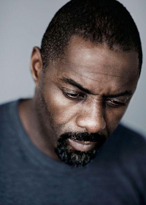 ♂ Man portrait face of Idris Elba photographed by Rich Hardcastle.