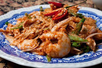 Kerabu Kay, Nyonya Poached Chicken And Prawns Salad | Food | Pinterest ...