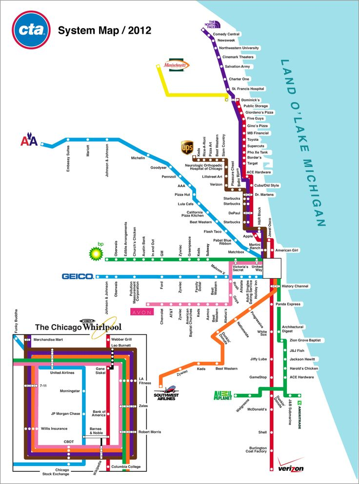 Best Chicago Transit Authority Ideas On Pinterest Chicago - Chicago brown line map