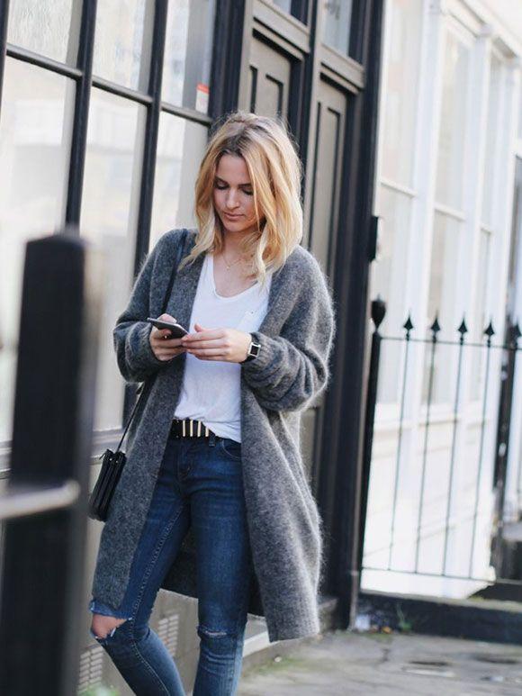 Fashion Fix: Lang grijs vest - My Simply Special