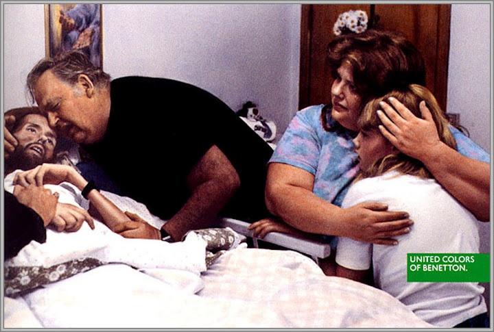 Oliviero Toscani - Campaña en donde se retrató a un enfermo de HIV, para Benetton