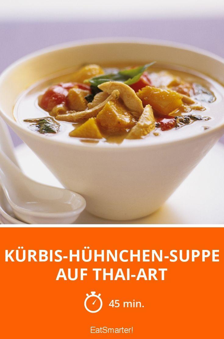 Kürbis-Hühnchen-Suppe auf Thai-Art - smarter - Zeit: 45 Min. | eatsmarter.de
