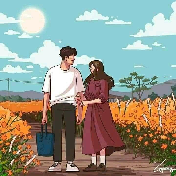 Berjalan Bersama Di Tepi Bunga Di 2020 Ilustrasi Ilustrasi Poster Peri Fantasi