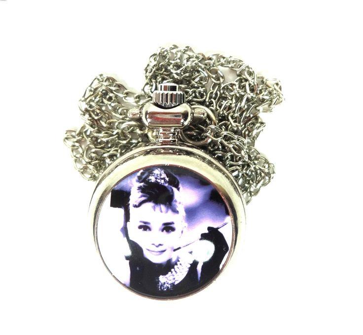 Zegarek Naszyjnik Audrey Hepburn retro