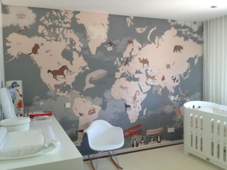 little hands: World Map for Guilherme's room