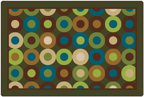 Calming Circles Rectangle Carpet (6' x 9') by Carpets For Kids. $279.30. Made in UAS. Lifetime Pile Warranty. 6'x9', Rectangle Carpet. Meets NFPA101 Class I Fire Code. Natural colors. Soothing circles captivate the eye with a palette of soft, natural colors. Lifetime pile wear warranty. Meets NFPA101, Class I Fire Code. Made in the USA.