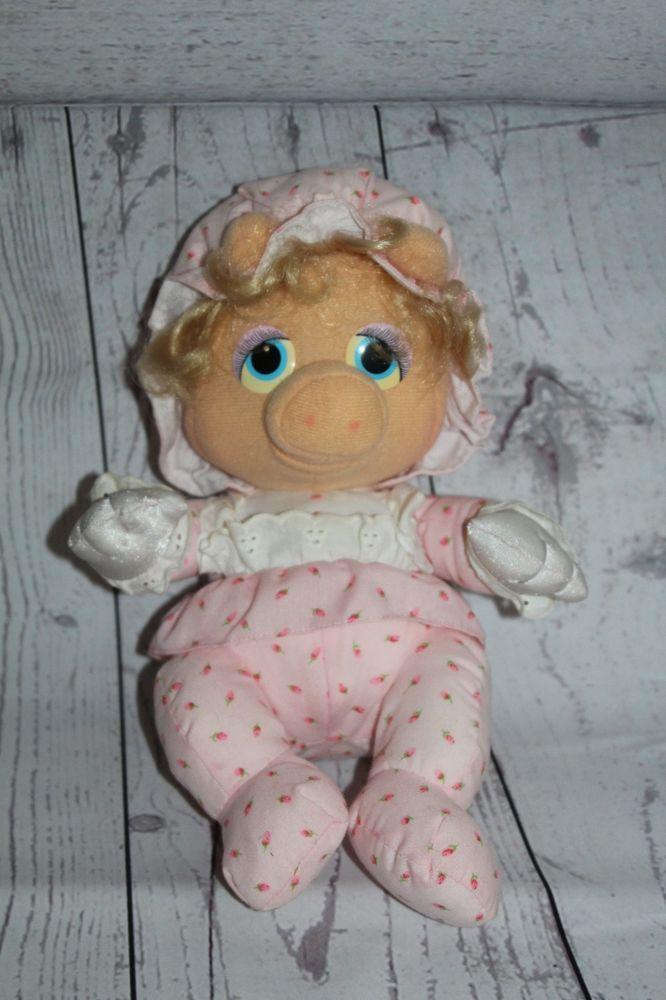 Vintage Muppet Babies Miss Piggy Plush 1984 Hasbro Jim Henson Pampers Promotion  #Hasbro