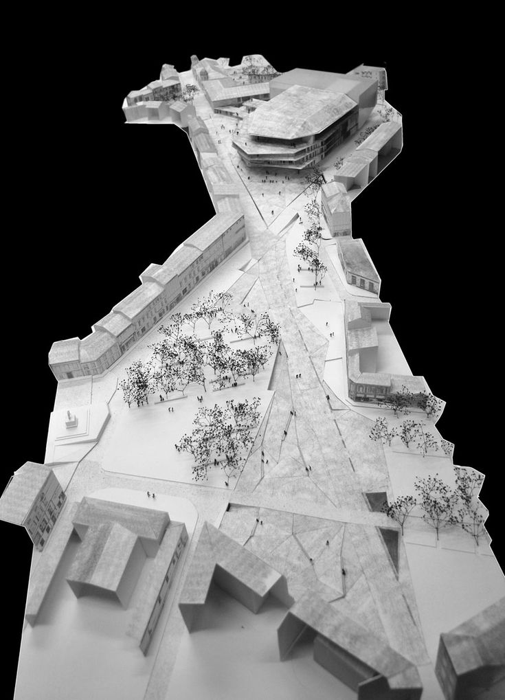 Albi Grand Theatre | Kengo Kuma & Associates | 2010 | architecture model