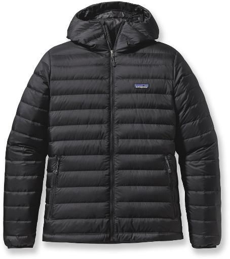 This is a big one. Love my down, but it doesn't have a hood. I really really want a hooded down: Black Patagonia Down Sweater Hoodie #fashionhoodieswomens