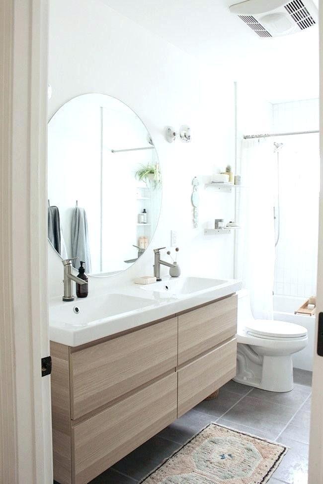 Salle De Bains 10 Idees Pour L Agrandir Grace Aux Couleurs En 2020 Idee Salle De Bain Meuble Salle De Bain Ikea Design Moderne De Salles De Bains