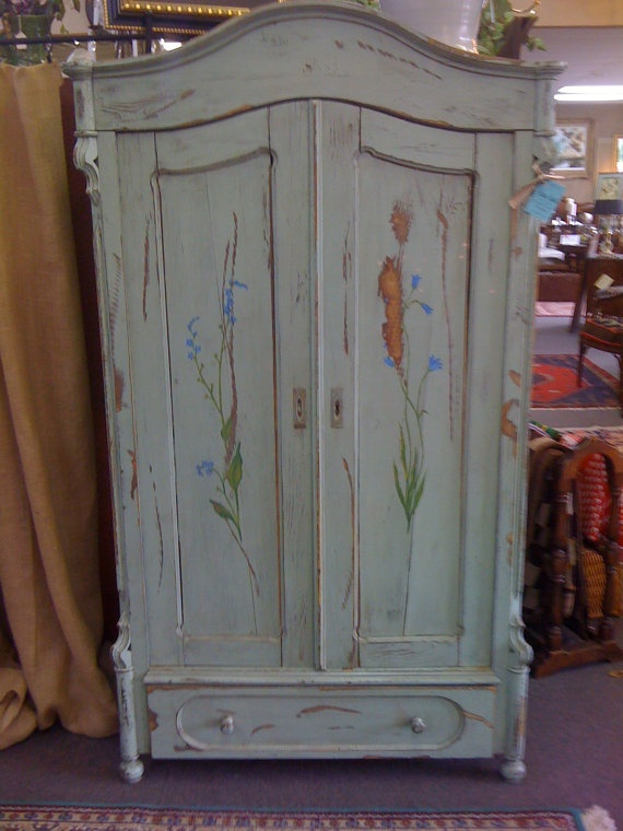 Delightful Blue Vintage Armoire...this Is Gorgeous!