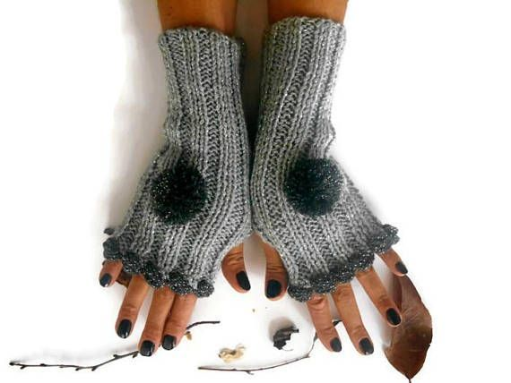 Women arm Warmer, Women Knitted Glove, Gray Crochet glove, Knitted Hand Warmer, casual Glove, Women Fingerless Glove, Winter Glove     Gray acrylic shiny gloves.  Made from soft gray yarn.  Elegant style flexible gloves.  You can wear this sleeve warm-up with any outfit.  These handheld heaters are soft and comfortable.  It will add elegance to your hand.  Gift can be an alternative.  Maintenance Instruction  Hand wash in warm water, dry.  COLOR: Gray sparkle yarn  Size: Height 10 //...