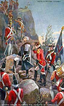 1759, les Britanniques escaladent les falaises pour arriver sur le terrain des Plaines d'Abraham  //  The Battle of Quebec 1759