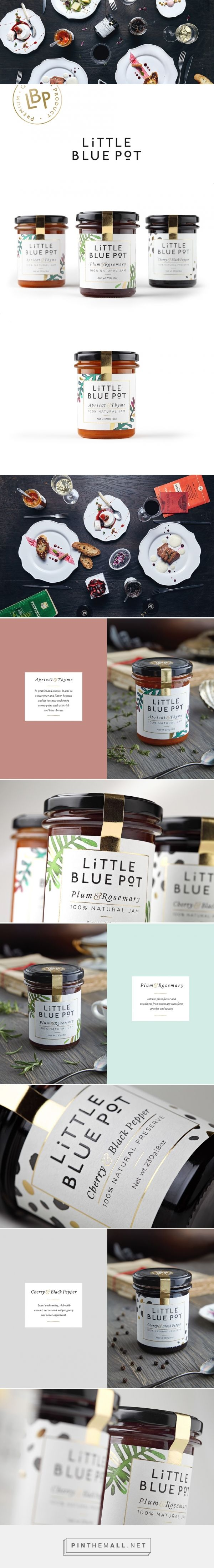 Little Blue Pot Jam packaging design by Coba&Associates (Serbia) - http://www.packagingoftheworld.com/2016/05/little-blue-pot.html