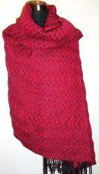Hand woven shawl / blanket, 100% wool.