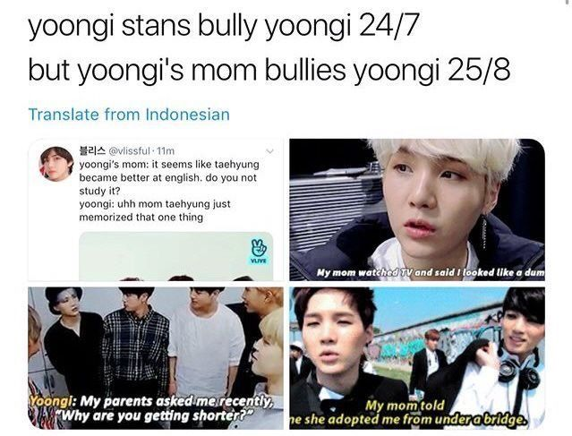 Why Does Yoongi S Mom Sound Like My Mom Bts Memes Hilarious Bts Memes Bts Tweet