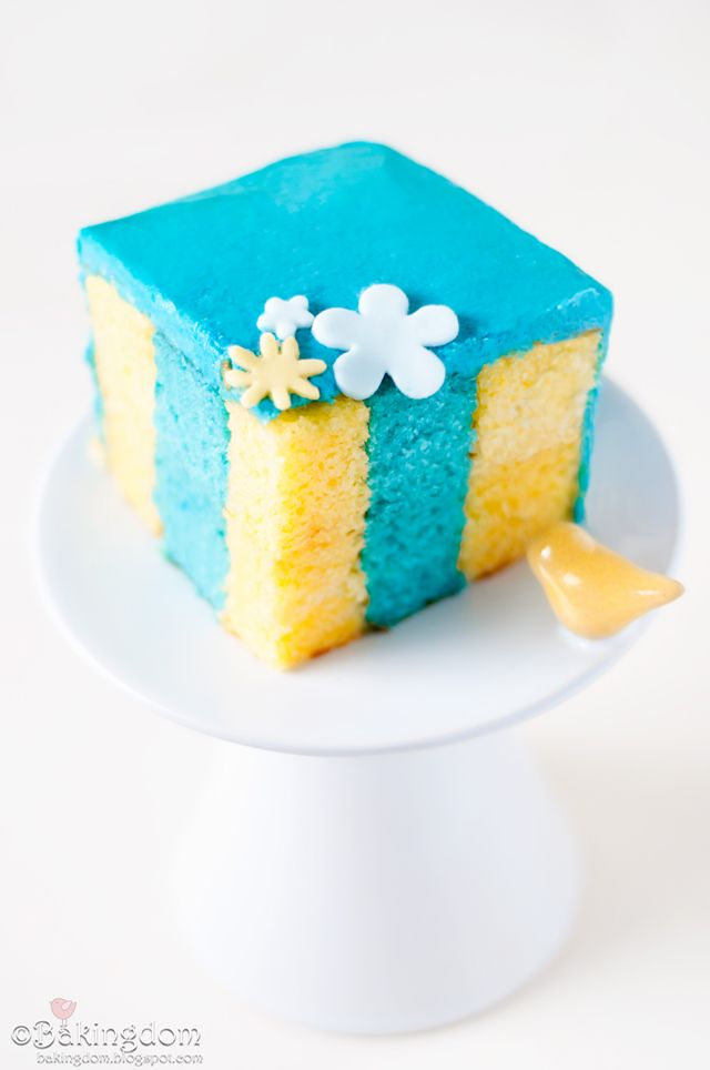 Vertical layer cake - cool idea and very pretty