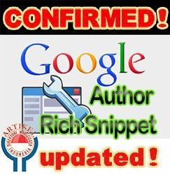 Author Rich Snippet Hilang di serp google