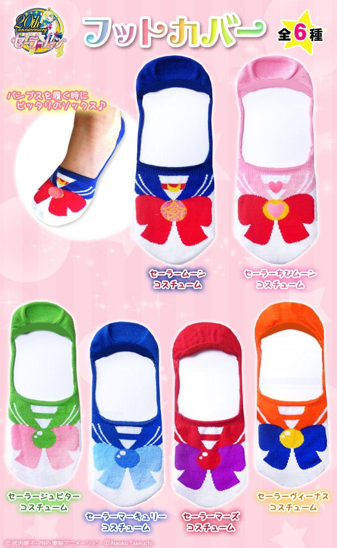 """sailor moon"" ""sailor moon merchandise"" ""sailor moon toys"" ""sailor moon apparel"" ""sailor moon accessories"" fashion japan anime shop socks foot cover"