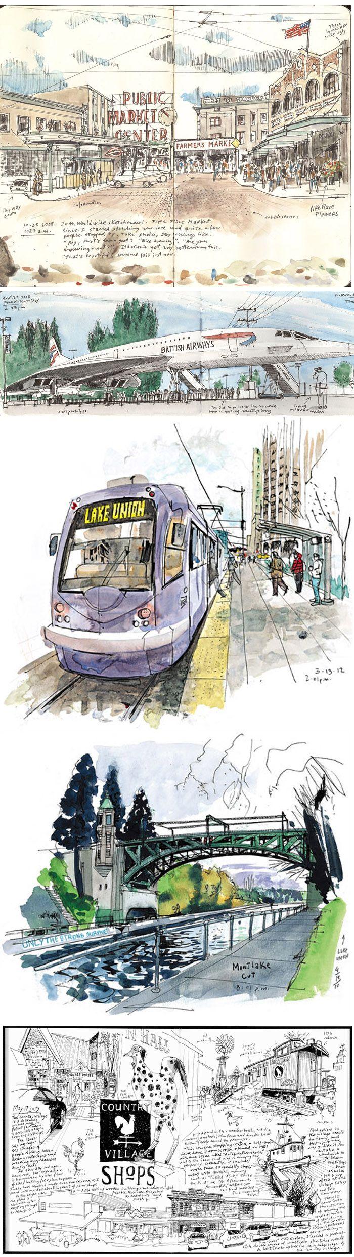 Gabi Campanario #urban #sketch #travel #journal http://thetoolsartistsuse.com/2009/03/gabi-campanario/