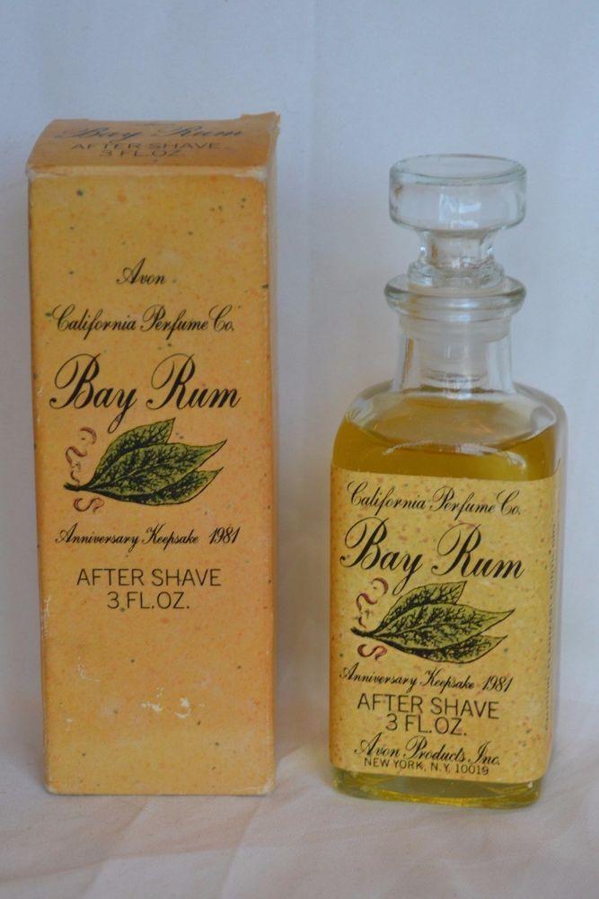Vintage 80s Avon California Perfume Co Anniversary Keepsake Bay Rum After Shave