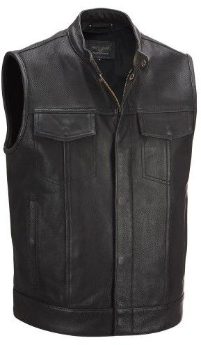 Wilsons Leather Mens Cycle Performance Patchwork Leather Vest