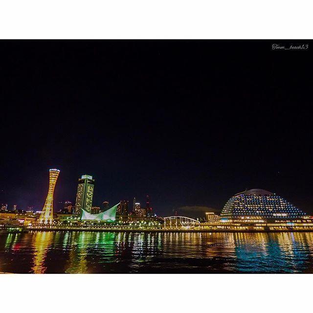 Instagram【tmm_beach13】さんの写真をピンしています。 《***Good afternoon*** * * * #神戸 #ポートタワー #ハーバーランド #神戸港 #夜景 #モザイクガーデン #空 #ダレカニミセタイ夜景 #kobe #tower #sky #skylover #nightview #port #japan #神戸牛 食べ損ねた》