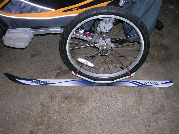 X Country Ski Kit For Chariot Bike Trailer Homemade Xc