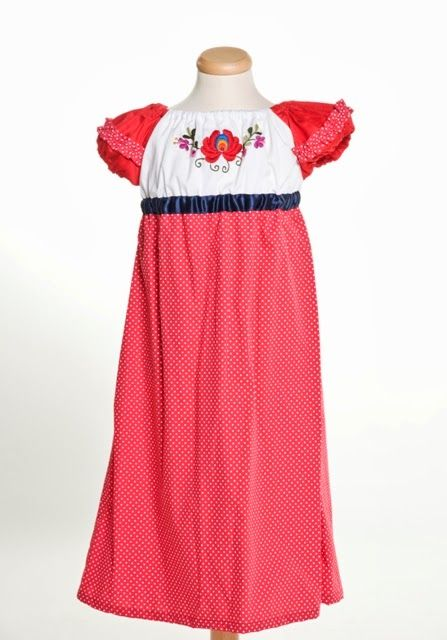 Girl dress for occassion - handmade embroidery