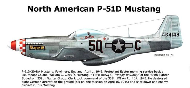 P 51d 20 Na Mustang Fowlmere England April 1 1945 Color