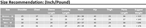 Mens Womens Cotton Pajama Set Knit Sleepwear Loungewear with Long-Sleeve Top and Pant