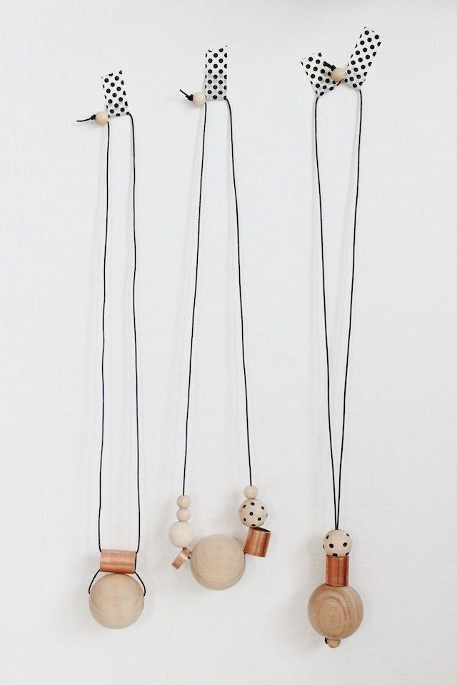 DIY Wood + Copper Necklaces