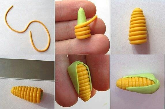 Baby corn fondant