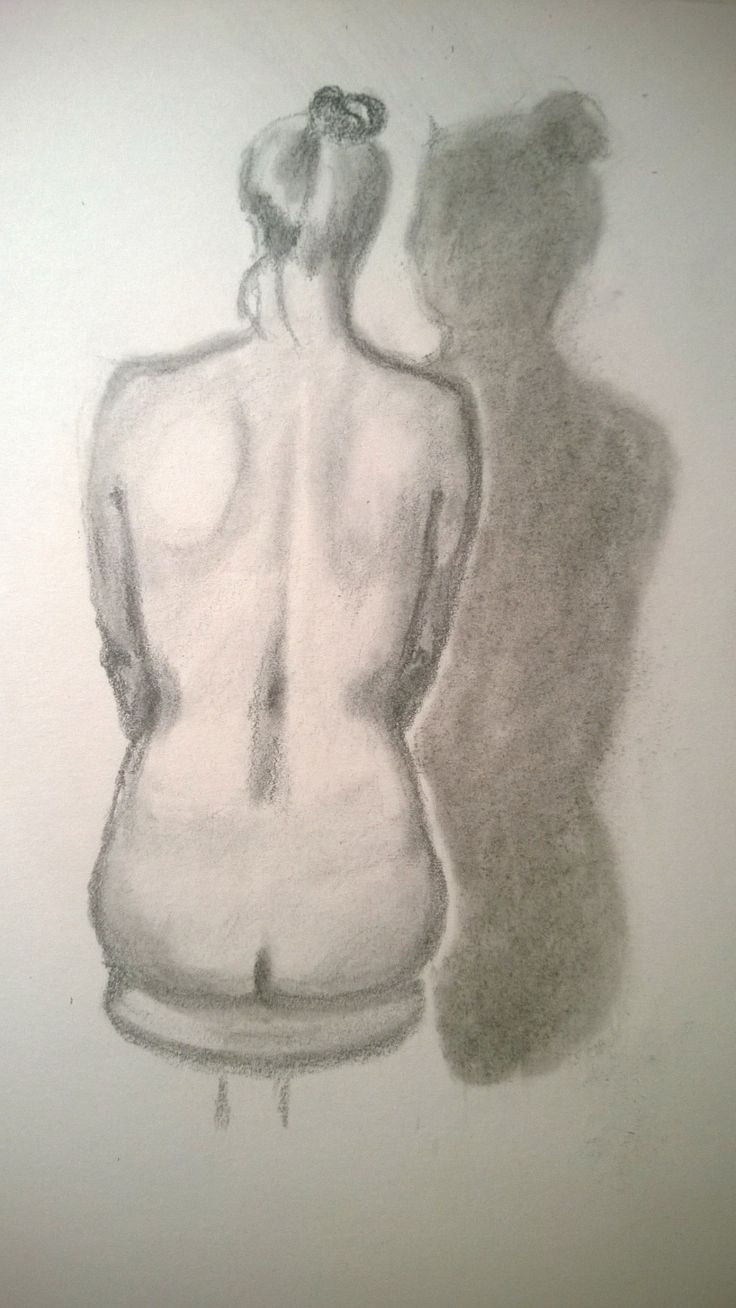 Swimmer's back, pencil