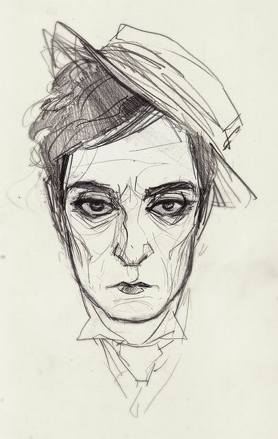 Annie Wu illustration of Buster Keaton