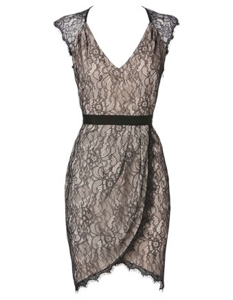 WAYNE BY WAYNE COOPER lace wrap dress #derbyday #myerspringfashion
