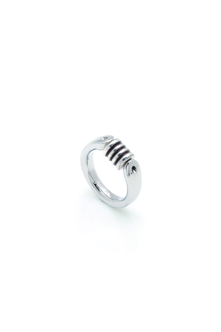 """Charlotte """"tipit"""" ringstyle in stainless steel with sterling silver element…"""