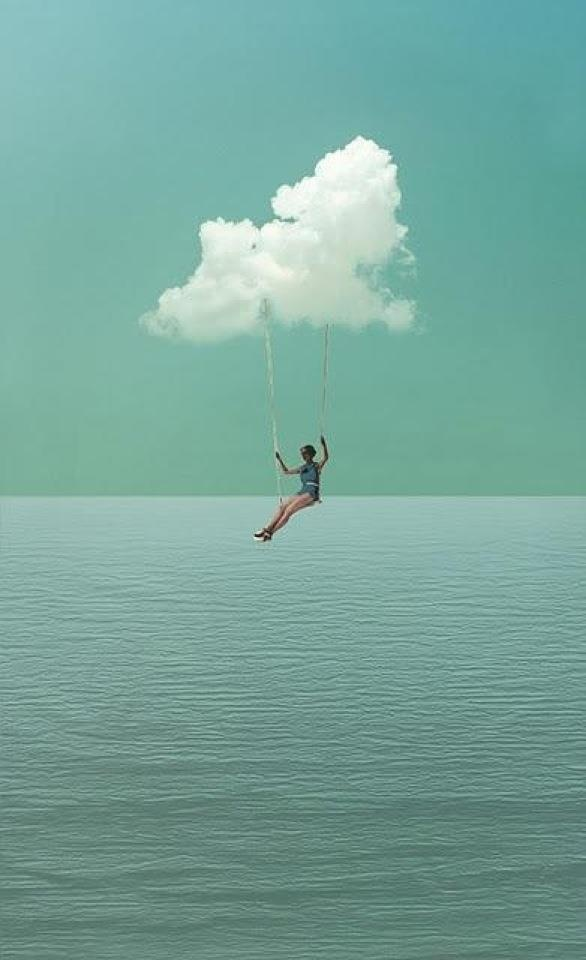 swinging from a cloud