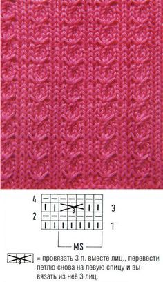 Сложные красивые узоры Ажурные косы спицами Узор узел Узор мелкими жгутами
