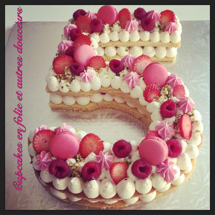 Number Cake 5 (cinq/five)