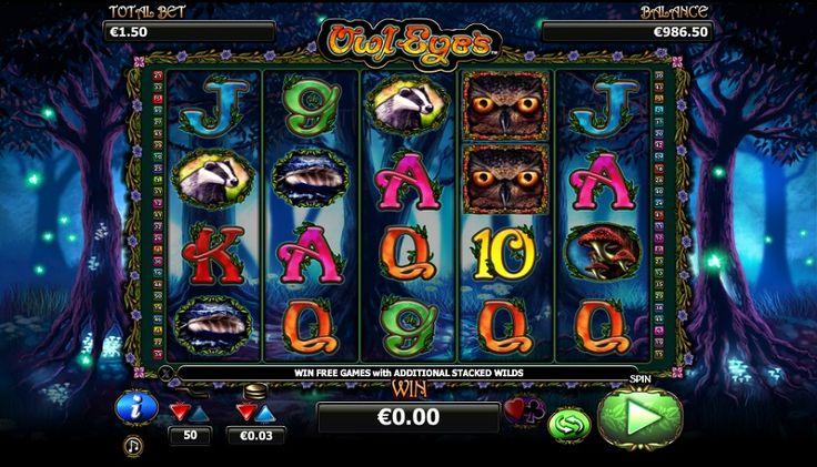 Den spilleautomaten Owl Eyes med fem hjul 50 og vindende linjer af NextGen Gaming har store detalje i billeder med enestående temaer indbyrdes forbundne til symbolerne, samt bonusmateriale. #jackpot #spilleautomaten #owleyes #bonusgame #Gratis #gratisspin