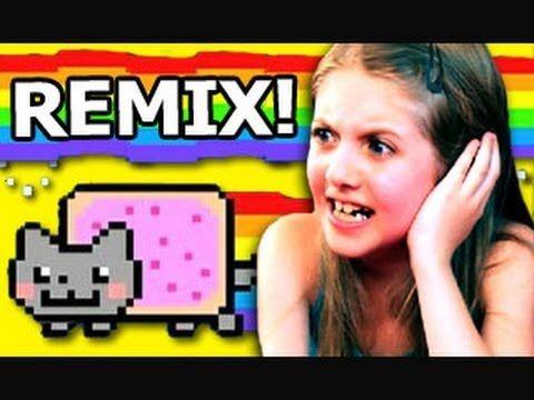Kids React Remix- Kids React to Nyan Cat. I CAN'T STOP LISTENING TO IT!!!