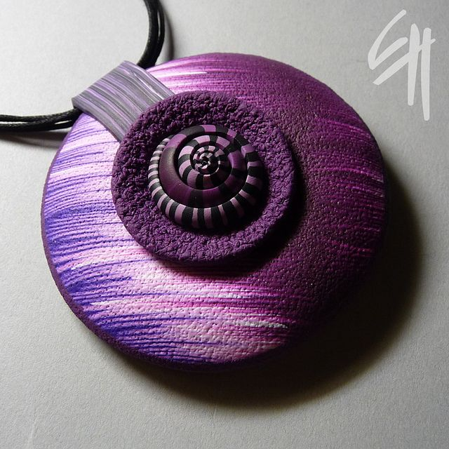 Gorgeous colors!: Colors Purple, Clay Inspiration, Polymer Clay Jewelry, Fimo Clay, E H Design, Ehdesign, Eva Haskova, Violets Fossil, Fossil Pendants